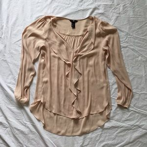 Long Sleeve Peach H&M blouse with Ruffles